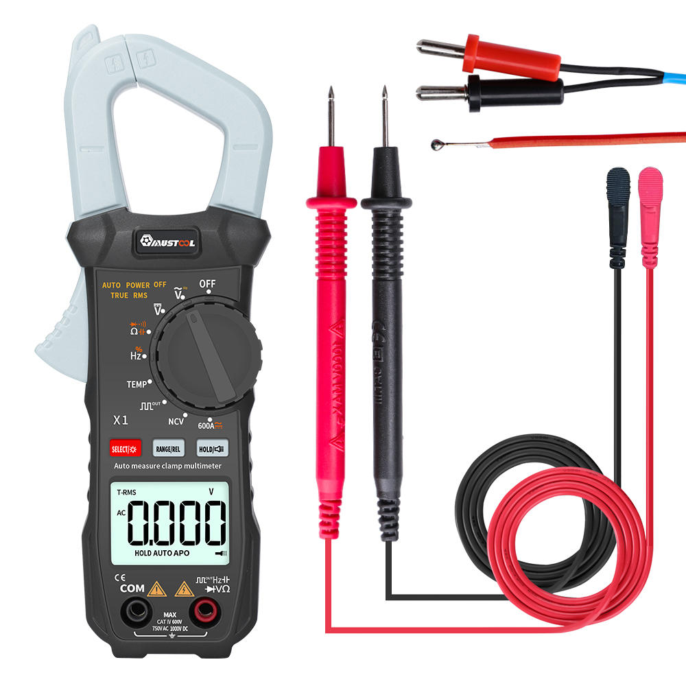 MUSTOOL X1 Pocket 6000 Counts True RMS Clamp Meter AC/DC Voltage&Current Digital Multimeter Automatic Digital Meter With