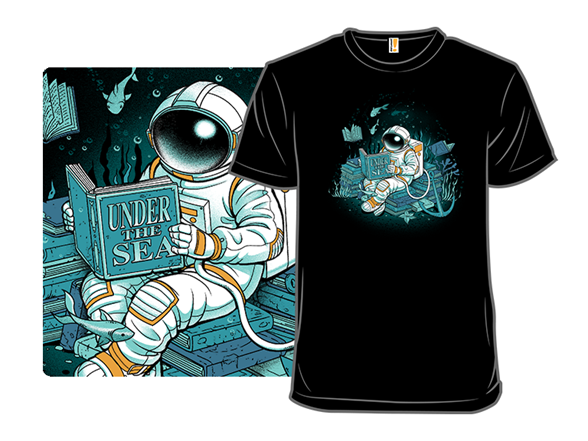 Cosmonaut Under The Sea T Shirt