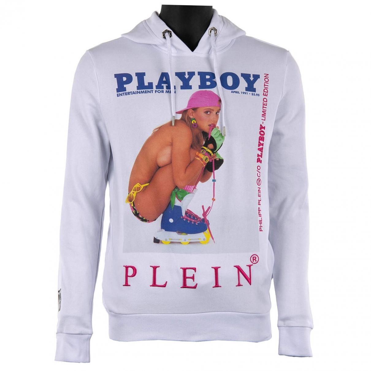 Philipp Plein \N Pullover.Westen.Sweatshirts  in  Weiss Baumwolle