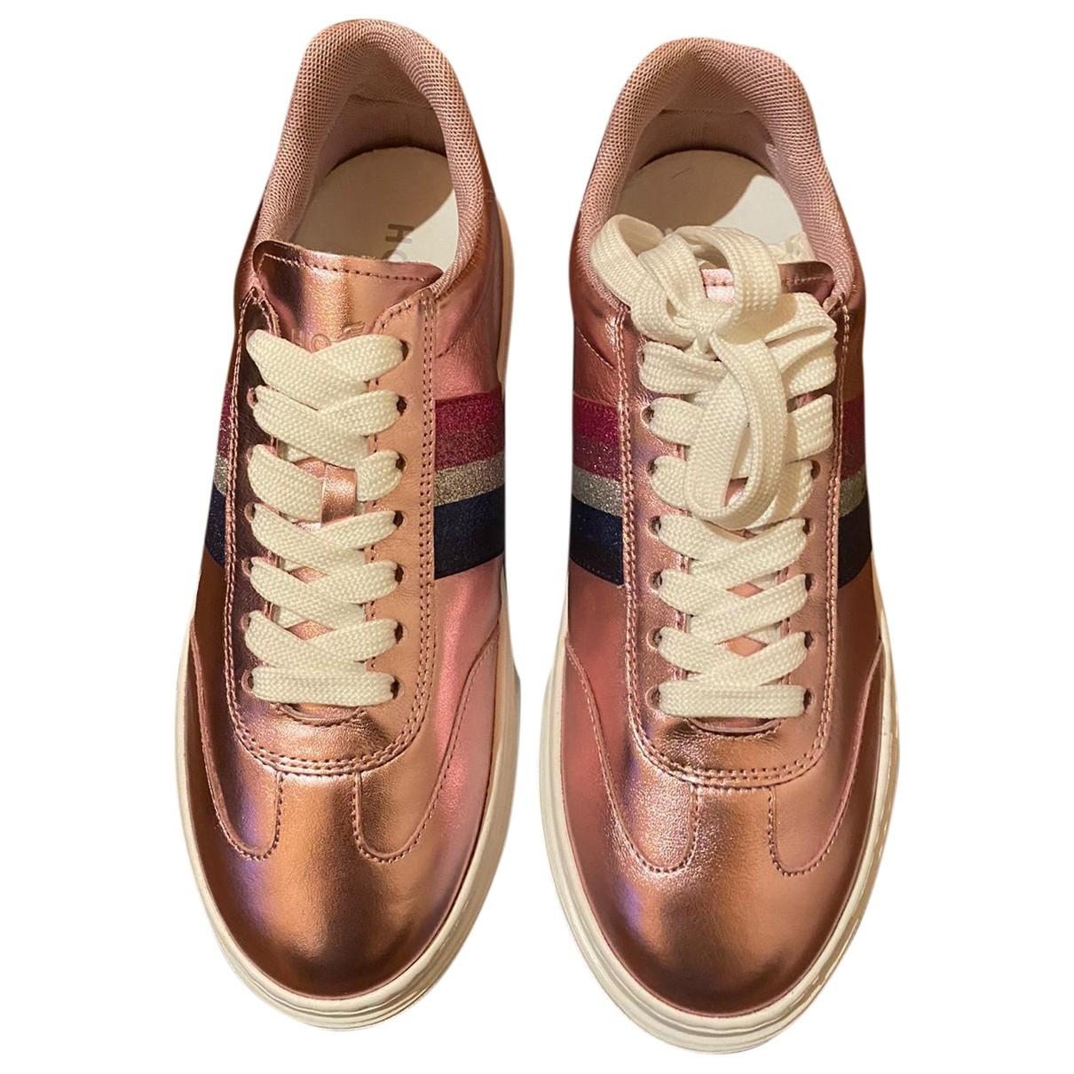 Hogan \N Sneakers in  Rosa Leder