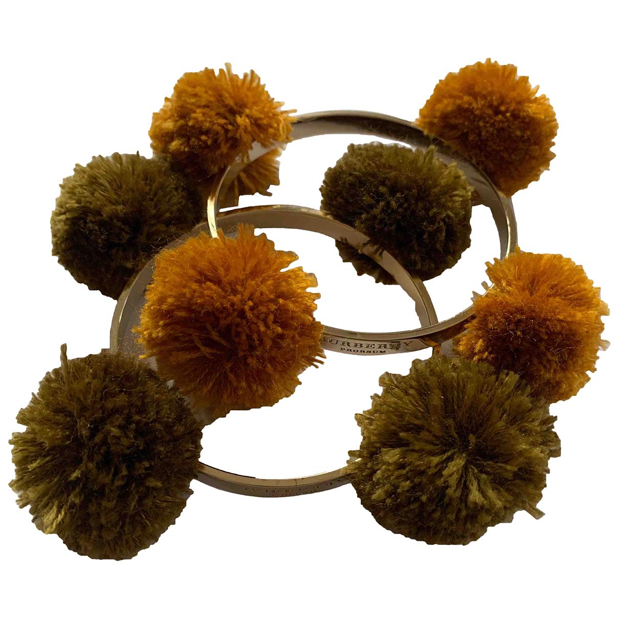 Burberry - Bracelet   pour femme en plaque or - dore