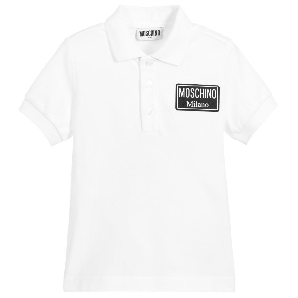 Moschino Polo Colour: WHITE, Size: 10 YEARS