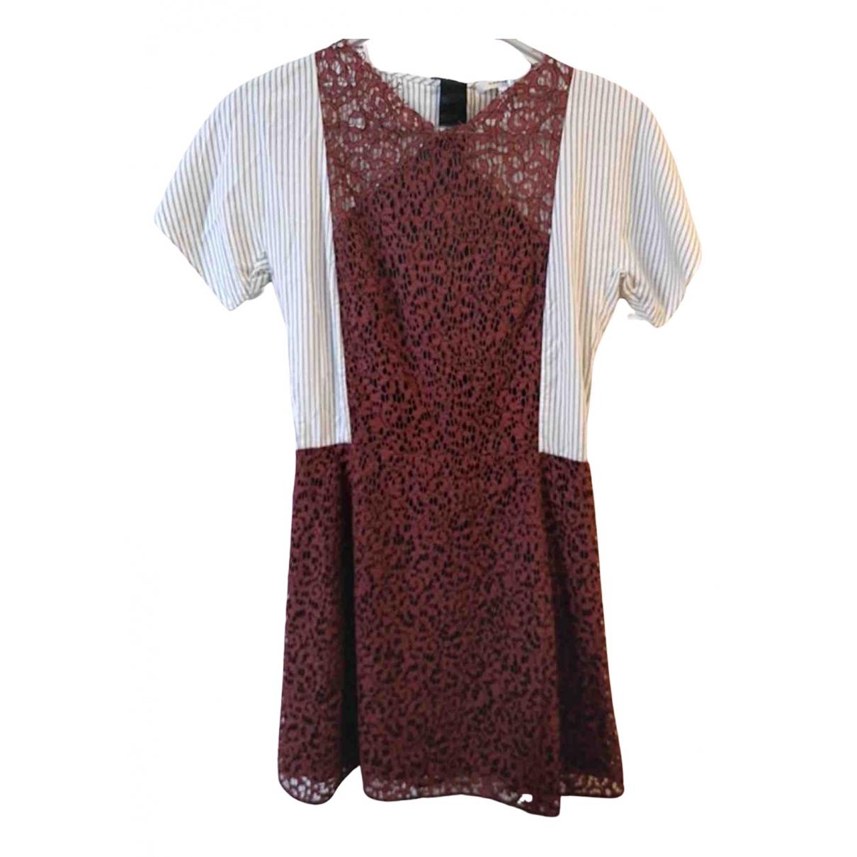Carven - Robe   pour femme en coton - bordeaux