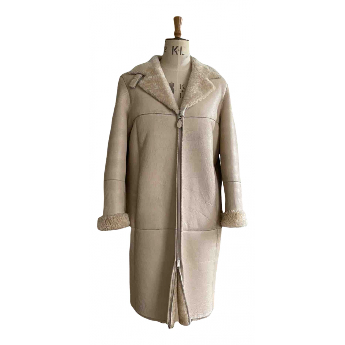 Closed \N Beige Leather coat for Women 38 FR
