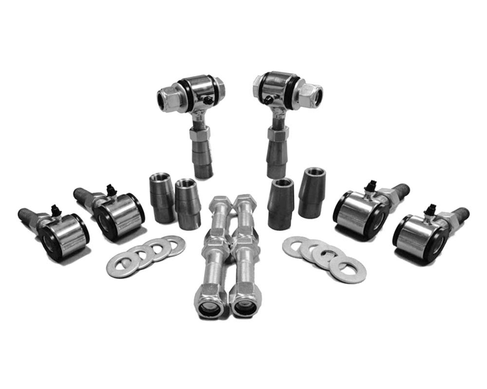 Steinjager J0009681 5/8-18 RH LH Poly Bushings Kits, Male 5/8 Bore x 1.75 Wide fits 1.250 x 0.120 Tubing Chrome Plated Bush Housing Six Poly Ends Per