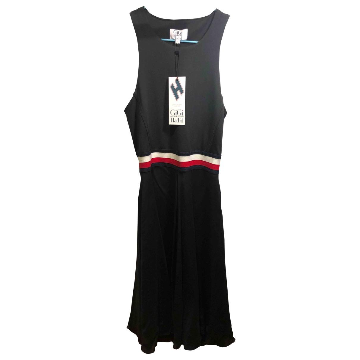 Tommy Hilfiger \N Kleid in  Schwarz Baumwolle - Elasthan