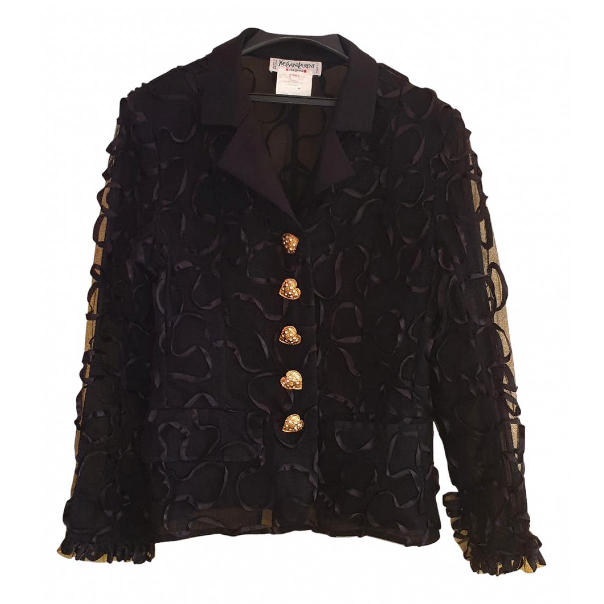 Yves Saint Laurent - Veste   pour femme en soie - noir
