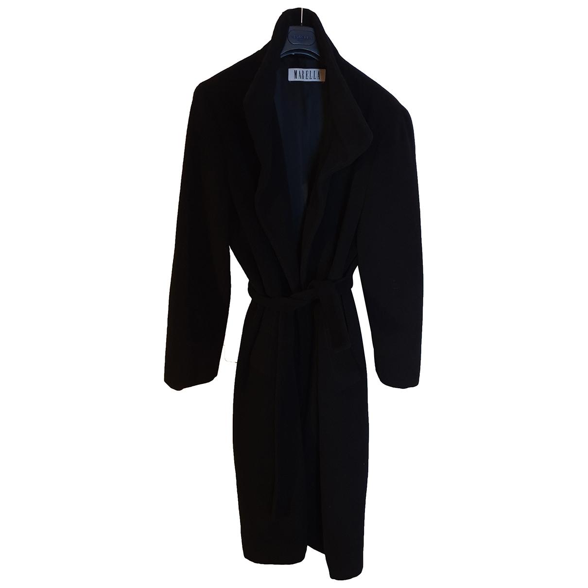 Marella \N Black Wool coat for Women 44 IT