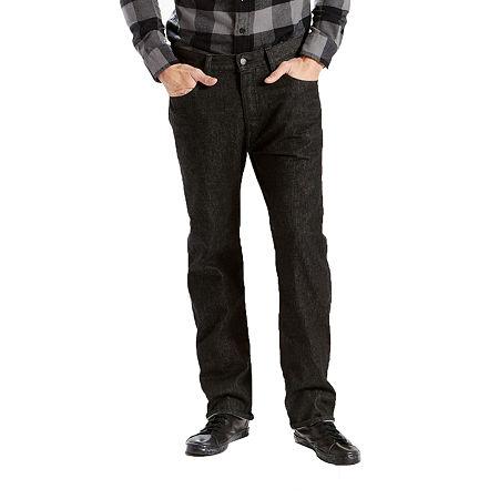 Levi's Mens Mid Rise 501 Straight Leg Jean, 42 32, Black