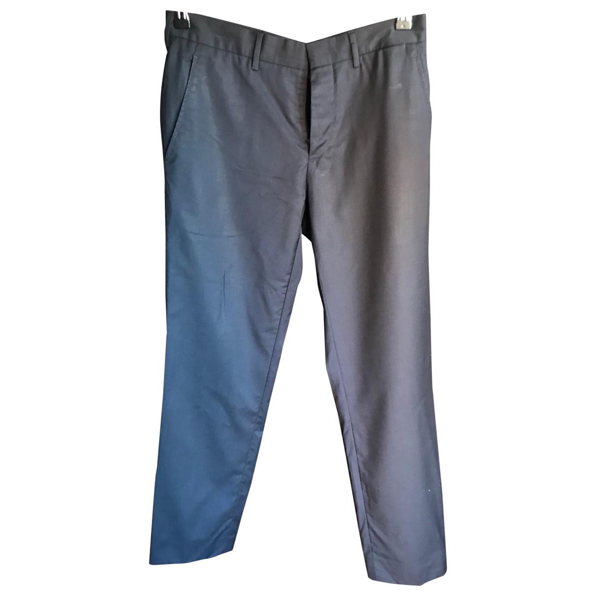 Prada - Pantalon   pour homme en laine - bleu