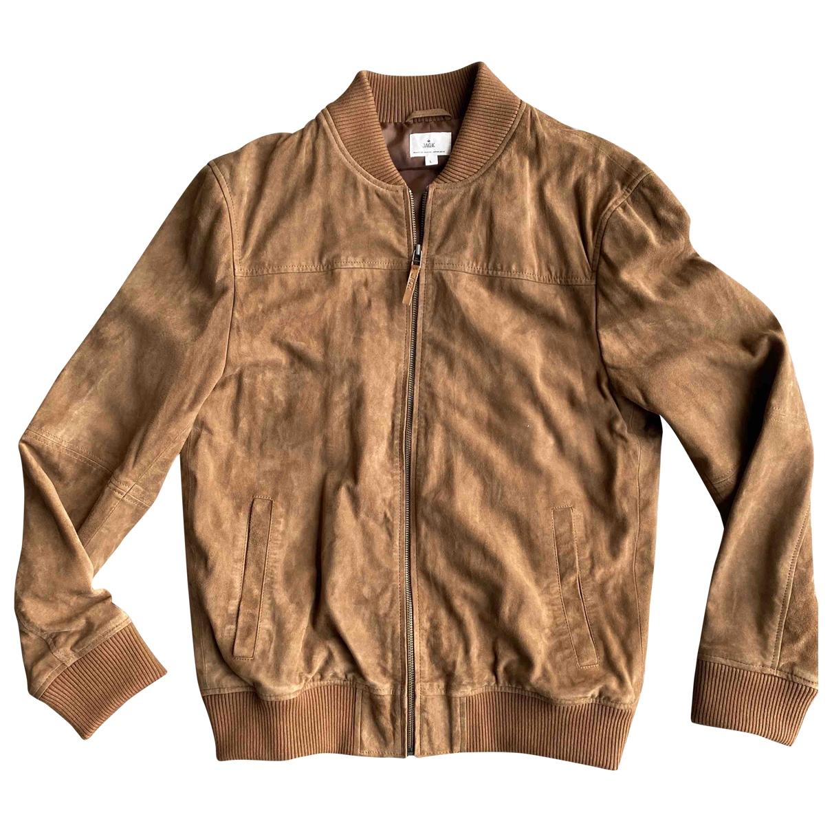 Jack Wills \N Camel Leather jacket  for Men L International