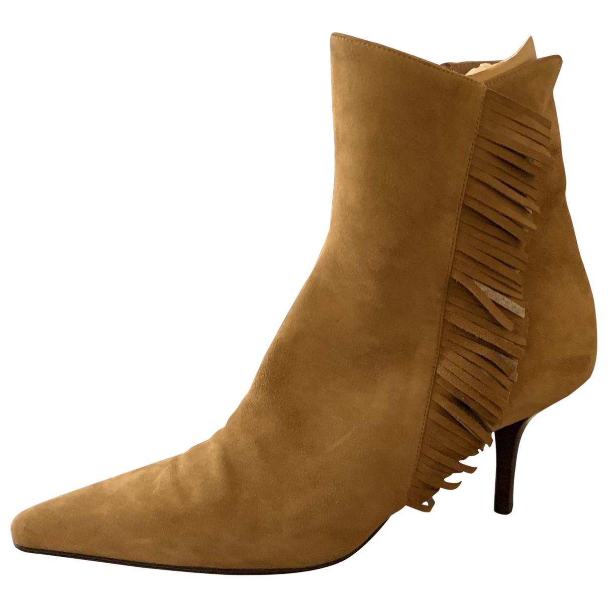 Gianvito Rossi - Boots   pour femme en cuir - camel