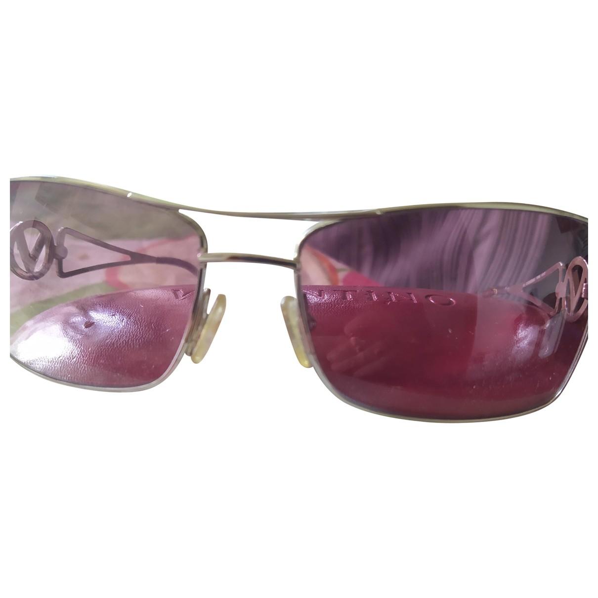 Valentino Garavani \N Sonnenbrillen in  Rosa Metall