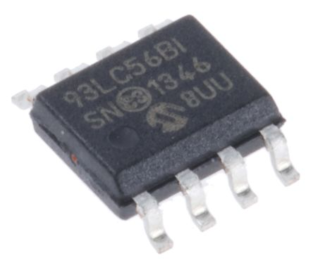 Microchip 93LC56B-I/SN, 2kbit Serial EEPROM Memory 8-Pin SOIC Serial-Microwire (20)