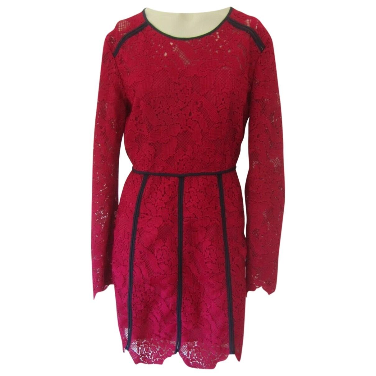 Msgm - Robe   pour femme en dentelle - rose