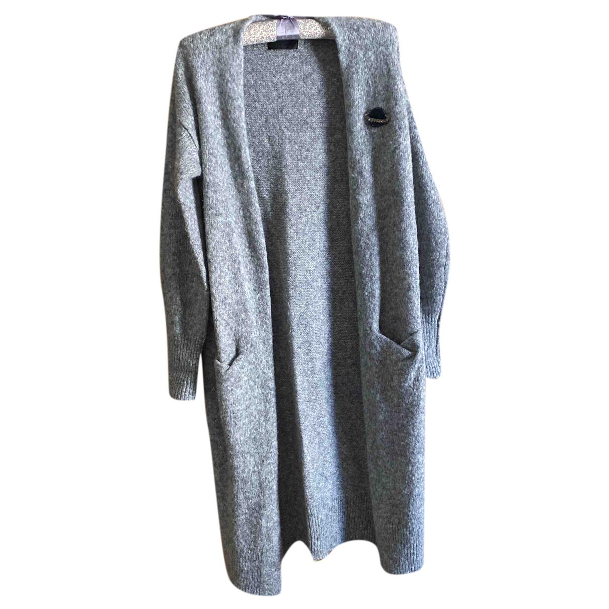 Markus Lupfer - Pull   pour femme en laine - gris
