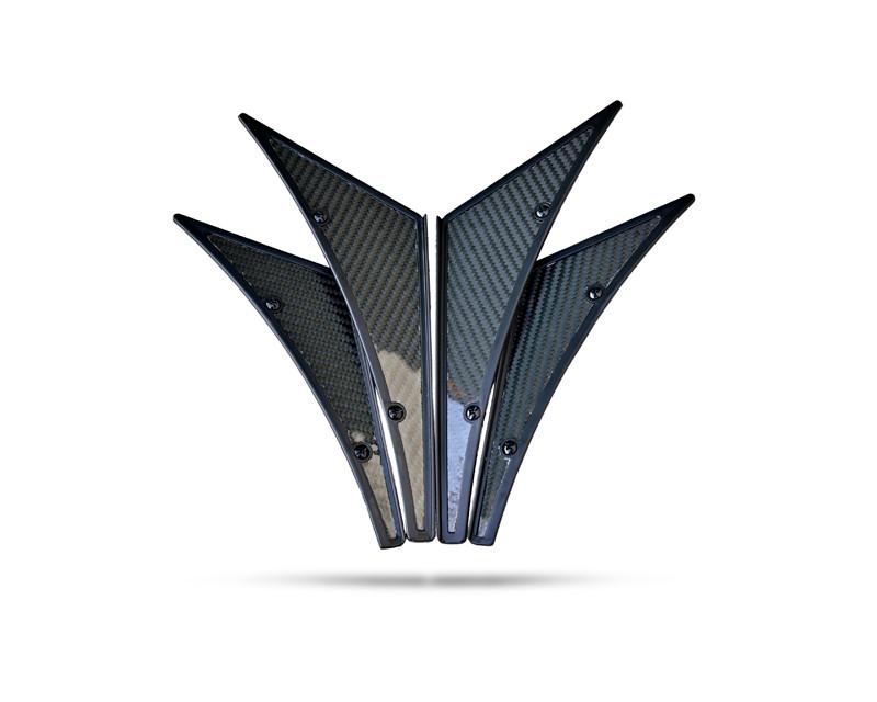 NRG CARB-C100 Innovations Four Piece Carbon Fiber Canards Universal