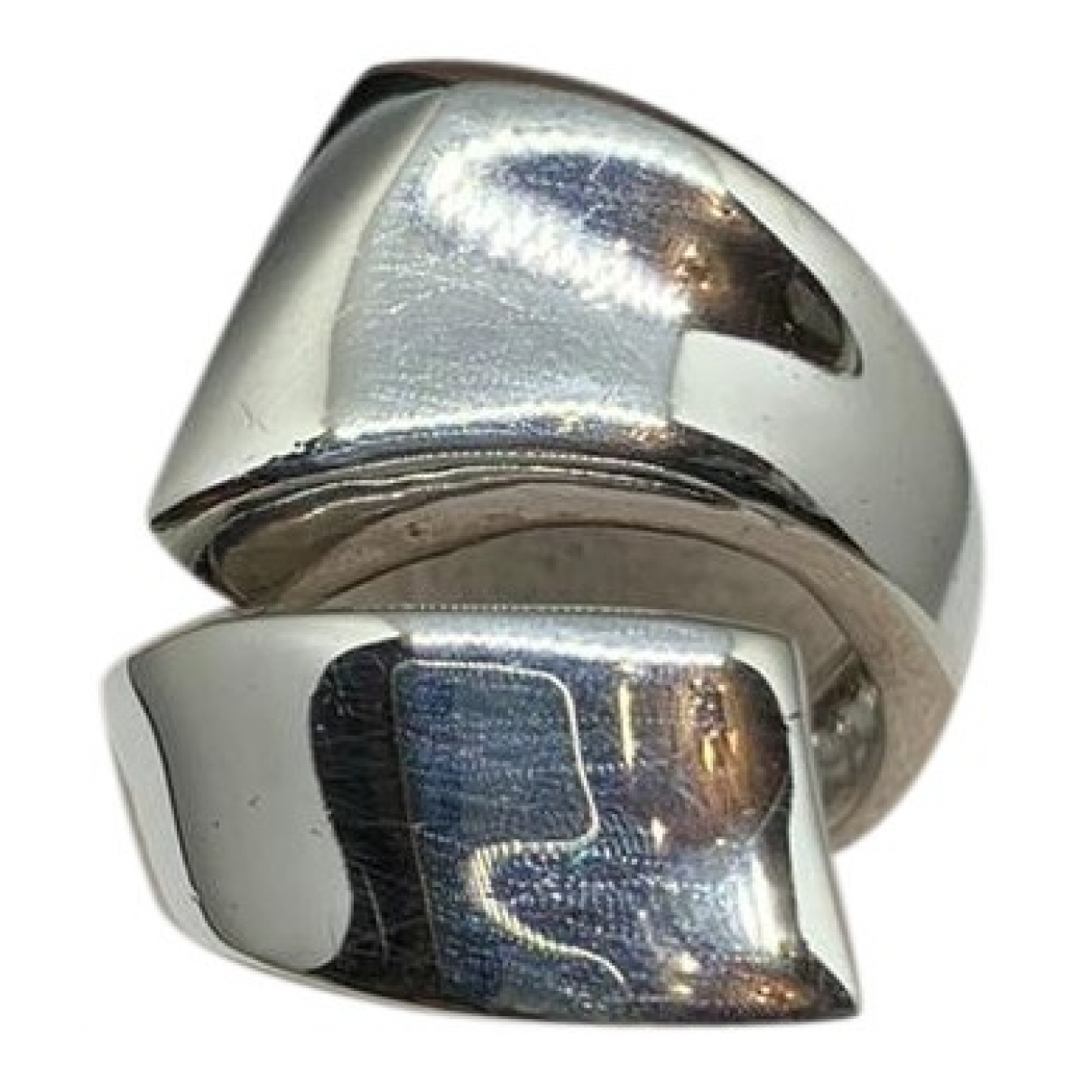 Non Signe / Unsigned Toi & Moi Ring in  Silber Metall