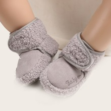 Baby Boy Letter Embroidery Velcro Strap Boots