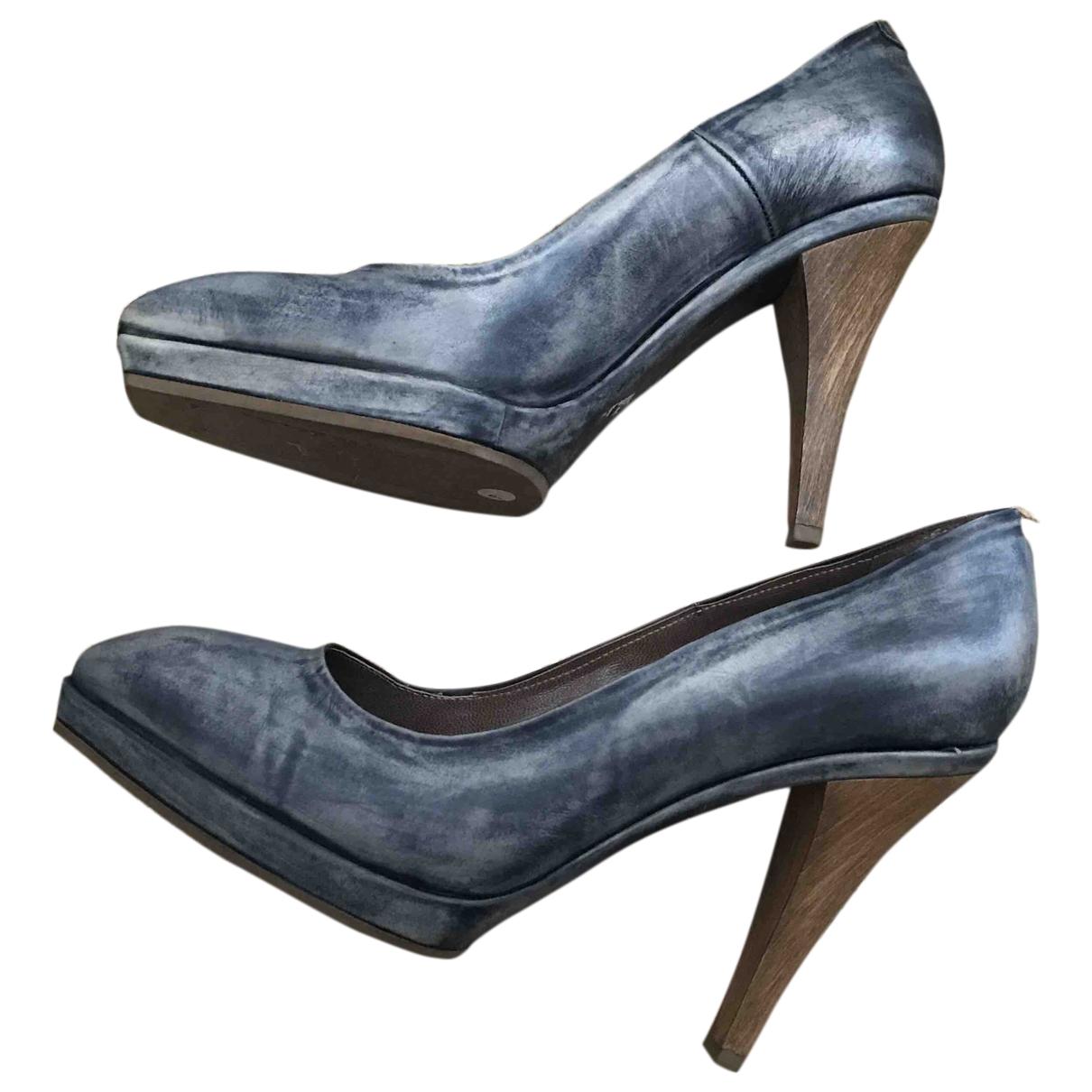 Marni - Escarpins   pour femme en cuir - bleu