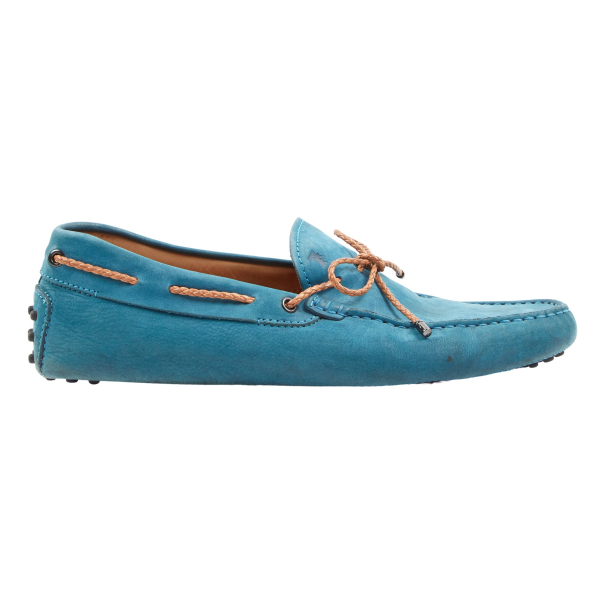 Tod's Gommino Turquoise Suede Flats for Men 8 UK