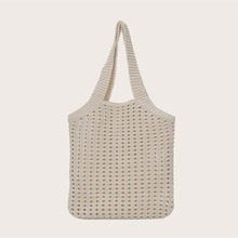 Hollow Out Knit Tote Bag