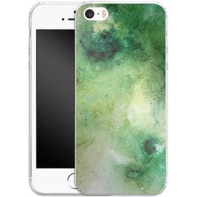 Apple iPhone 5s Silikon Handyhuelle - Abstract Galaxy - Green von Barruf
