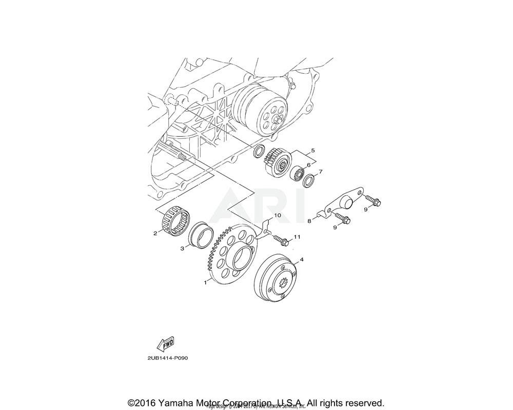 Yamaha OEM 93310-450X2-00 BEARING
