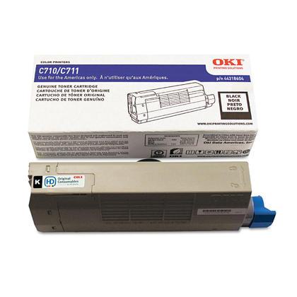 Okidata 44318604 cartouche de toner originale noire pour limprimante C711