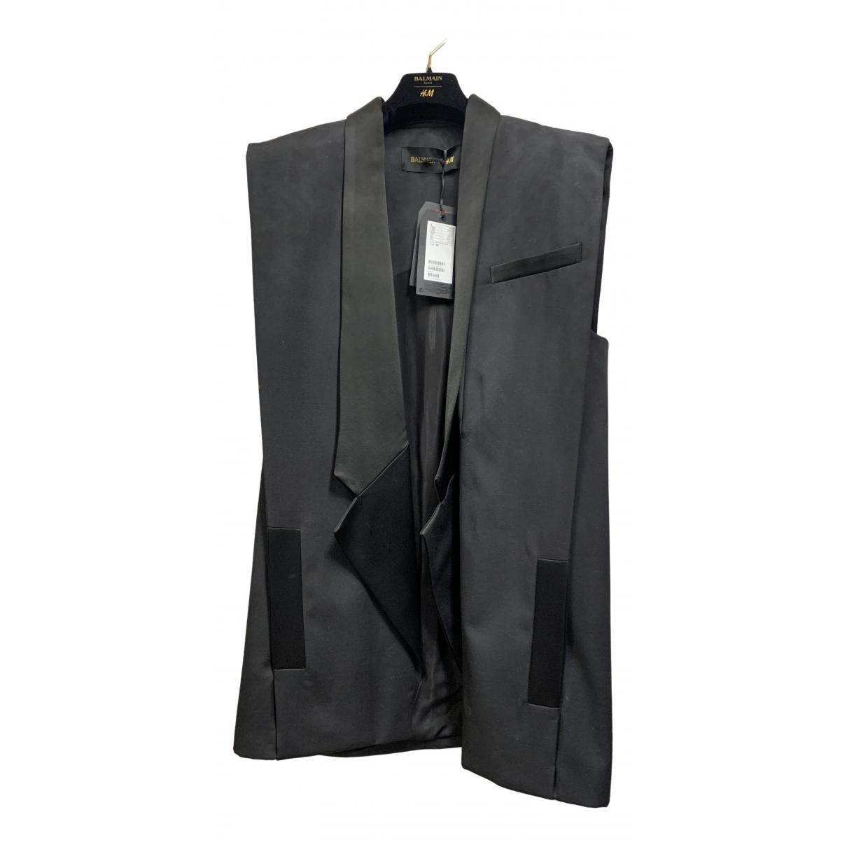 Balmain For H&m - Top   pour femme en laine - noir