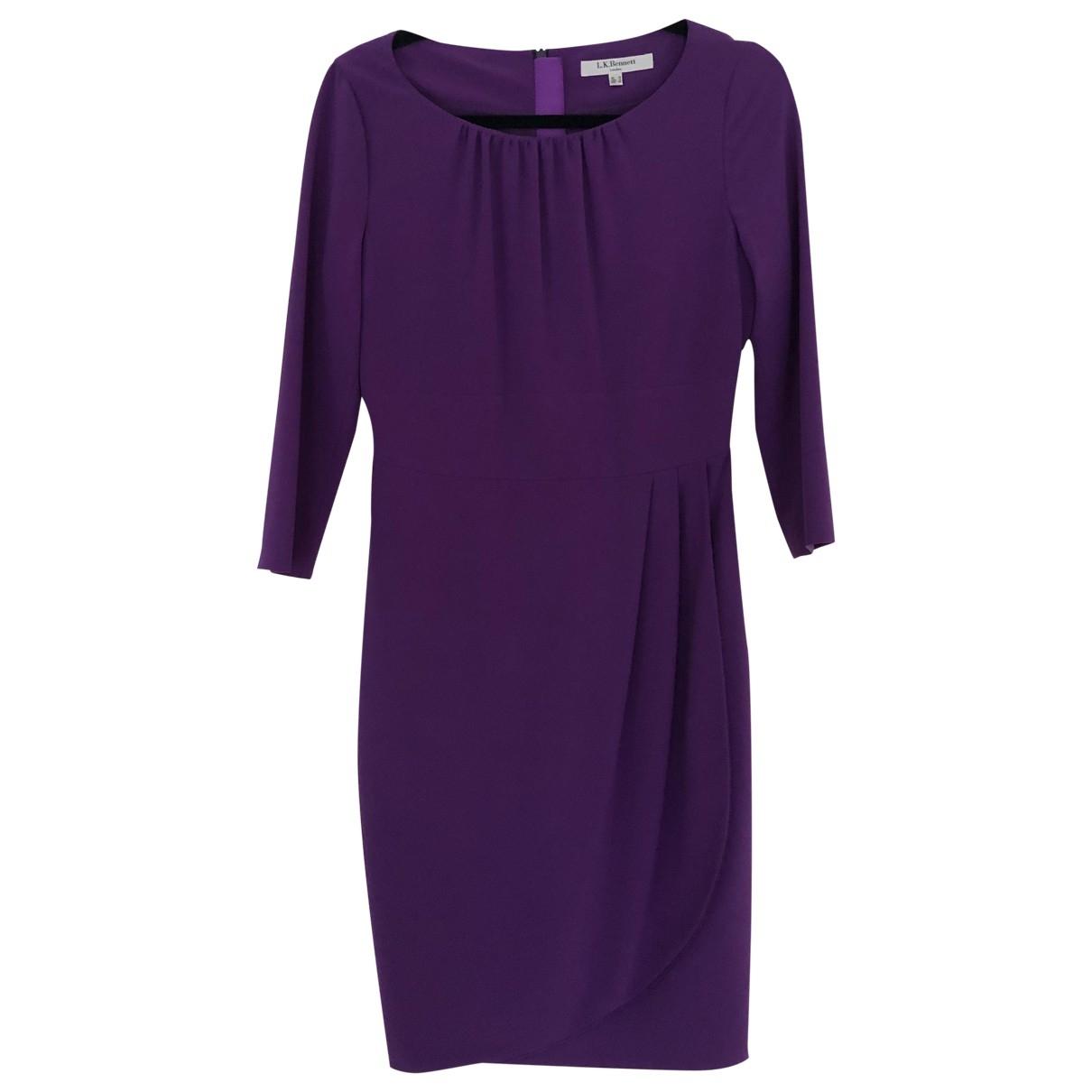Lk Bennett \N Kleid in  Lila Polyester