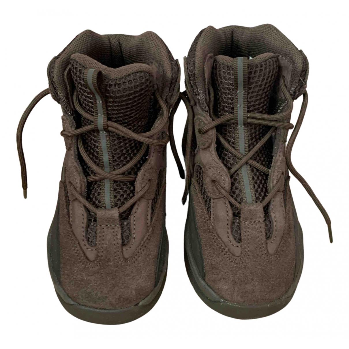 Yeezy X Adidas - Baskets   pour enfant en suede - noir
