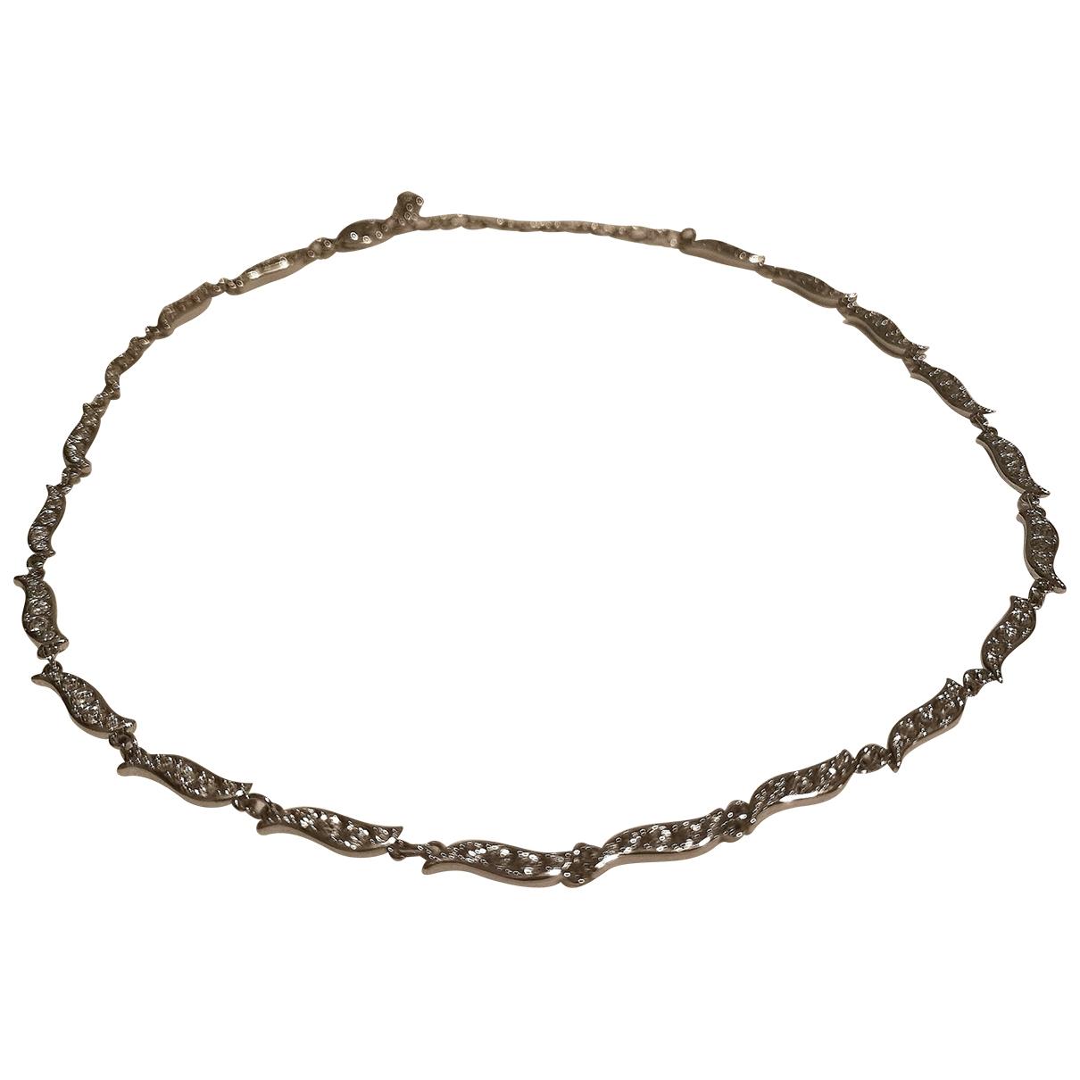 Swarovski \N Kette in  Silber Kristall