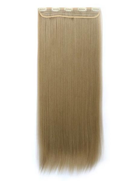 Milanoo Women Hair Extensions Layered Long Straight Hair Slice
