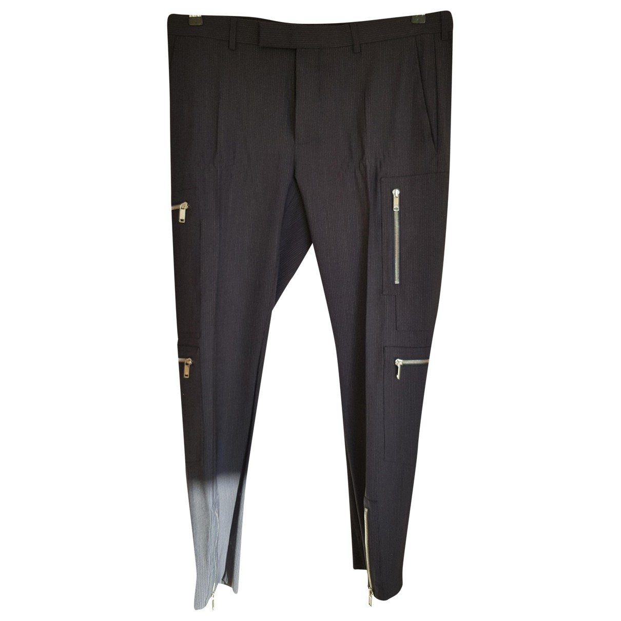 Dior Homme \N Blue Wool Trousers for Men 52 IT