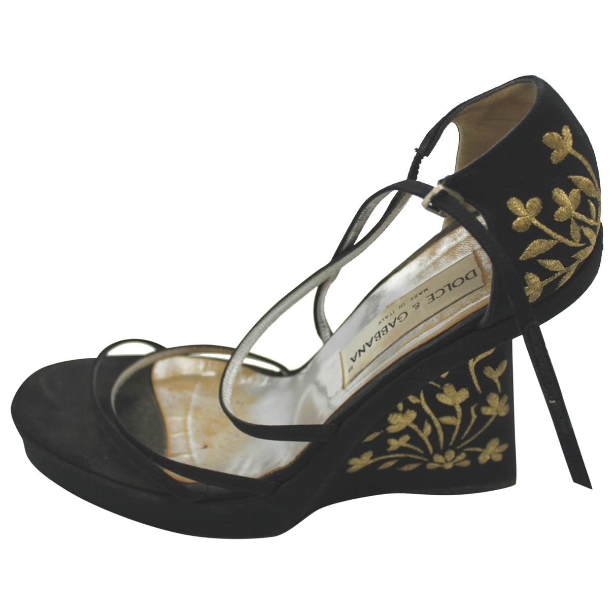 Dolce & Gabbana \N Black Leather Sandals for Women 40 IT