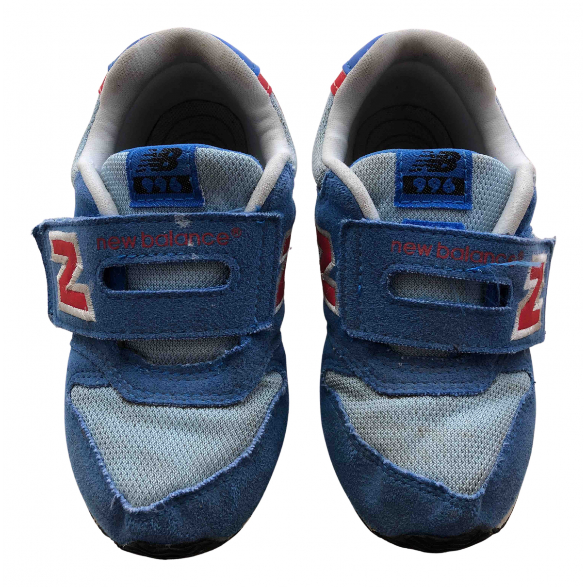 New Balance N Blue Cloth Trainers for Kids 26 FR