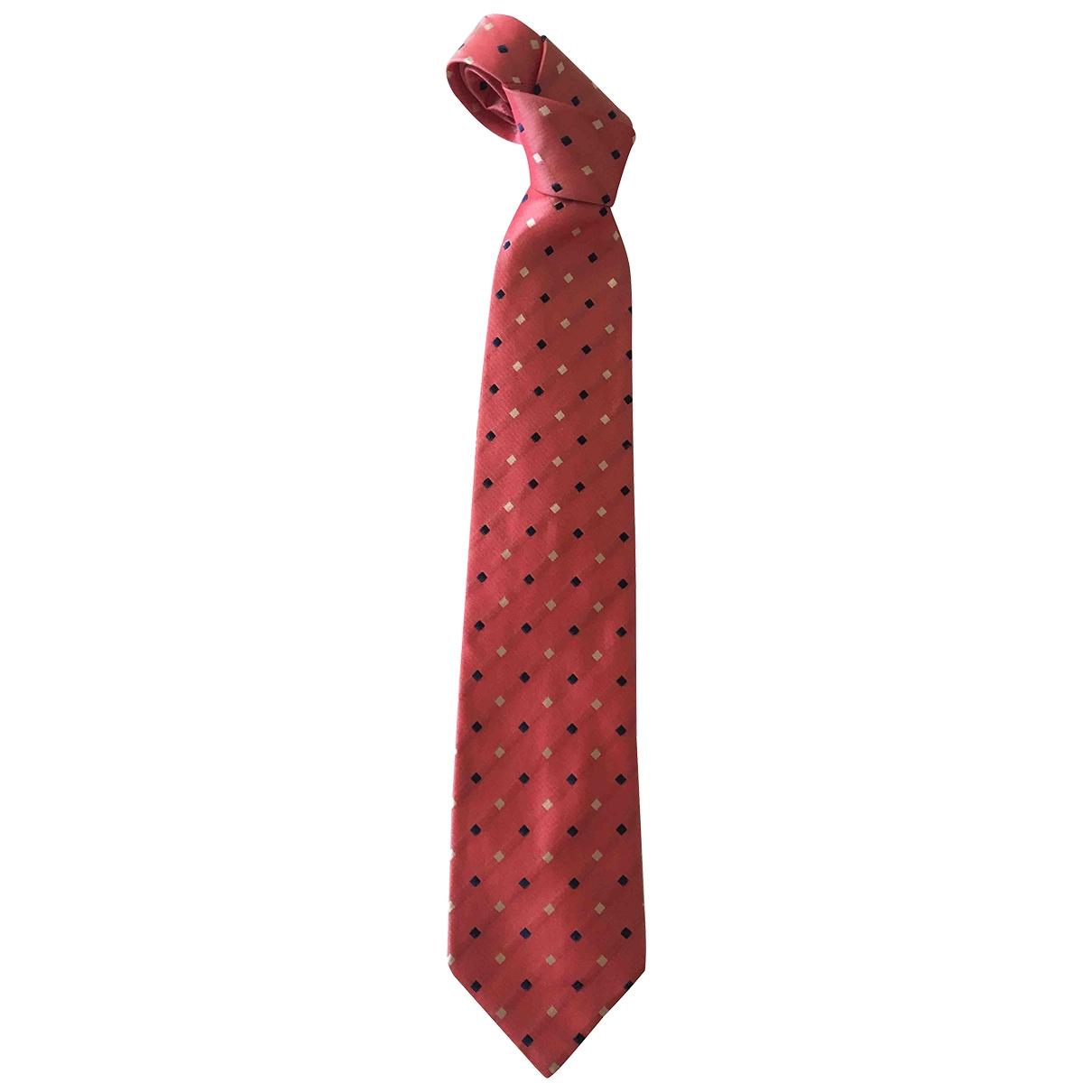 Non Signe / Unsigned \N Krawatten in  Rosa Seide