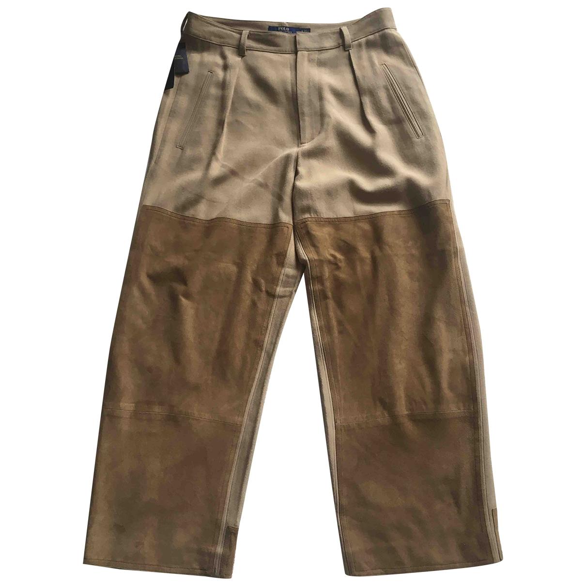 Pantalon recto de Cuero Polo Ralph Lauren