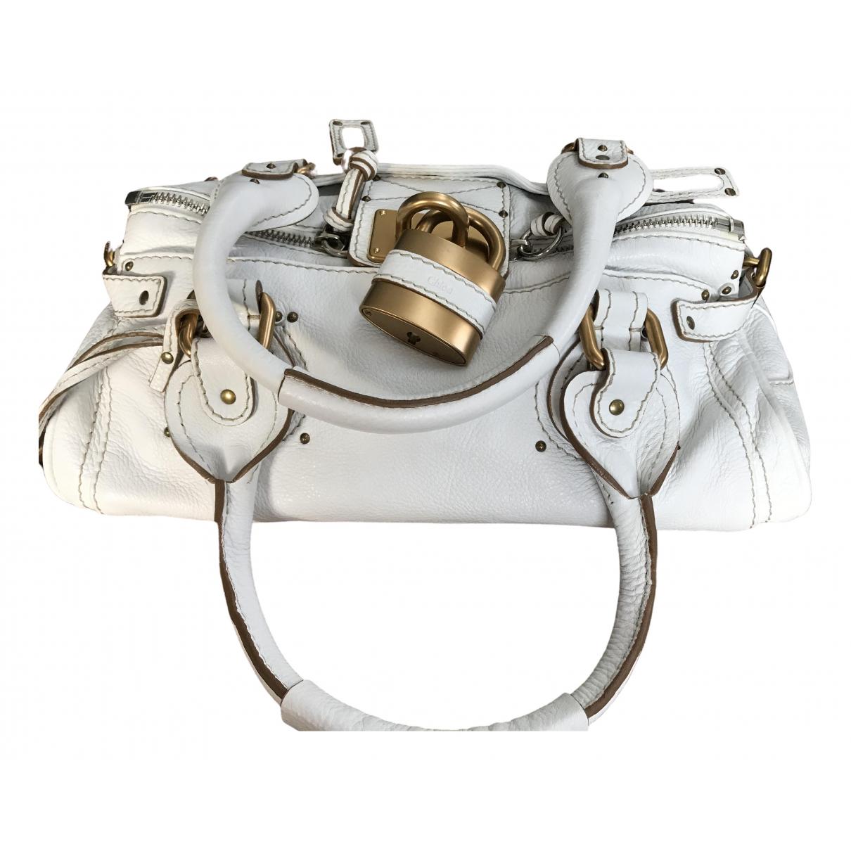 Chloé Paddington White Leather handbag for Women \N