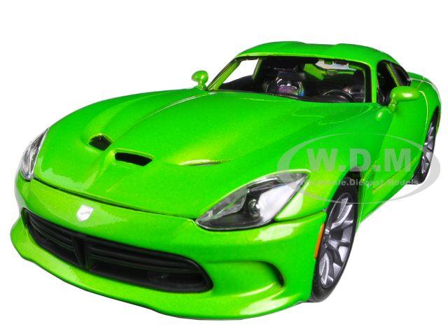 2013 Dodge Viper GTS Green 1/18 Diecast Car Model by Maisto