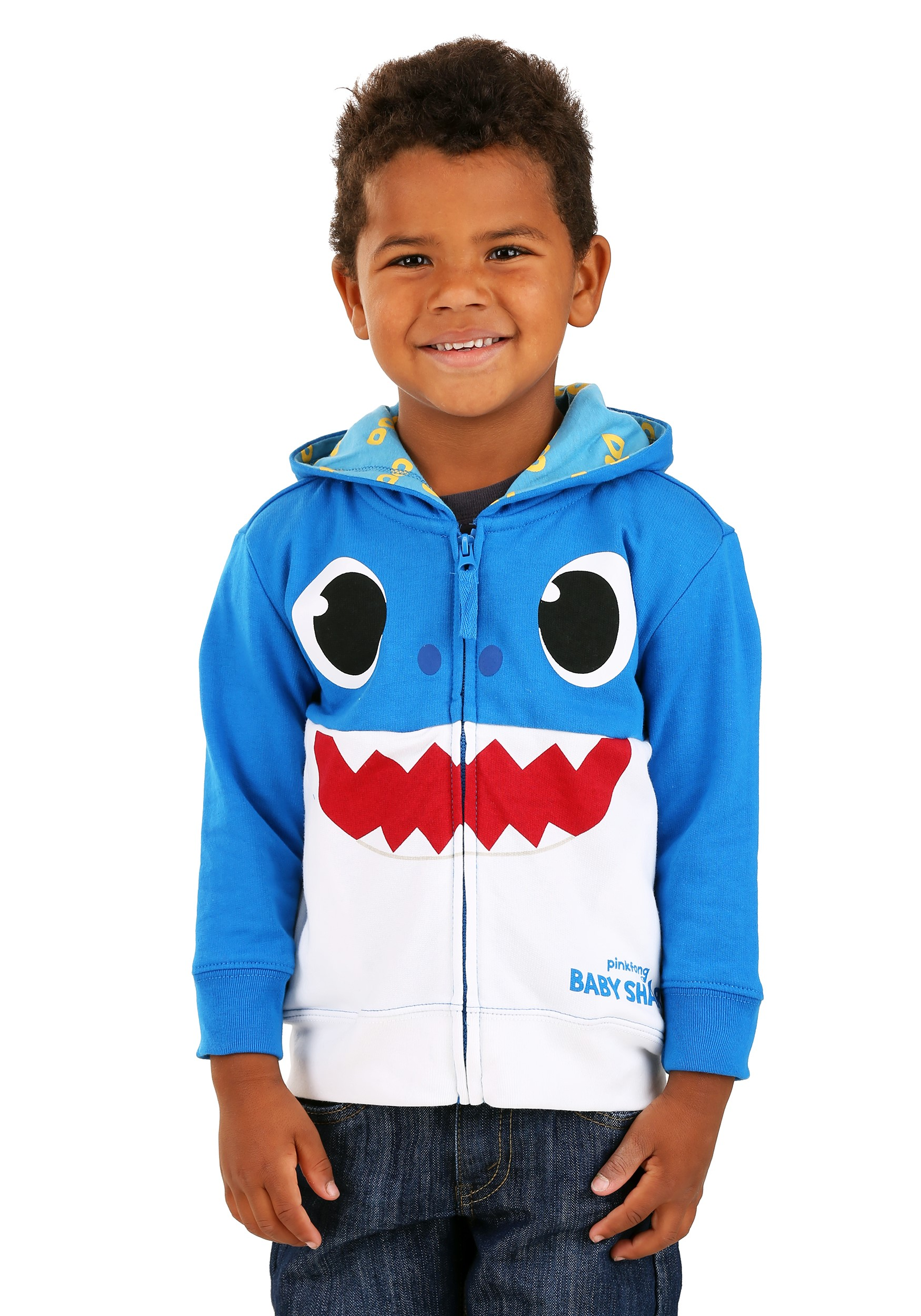 Toddler Baby Shark Blue Hoodie Costume
