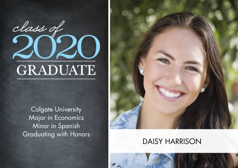 2020 Graduation Announcements 5x7 Cards, Premium Cardstock 120lb, Card & Stationery -Graduate Class of 2020 Overlay by Tumbalina