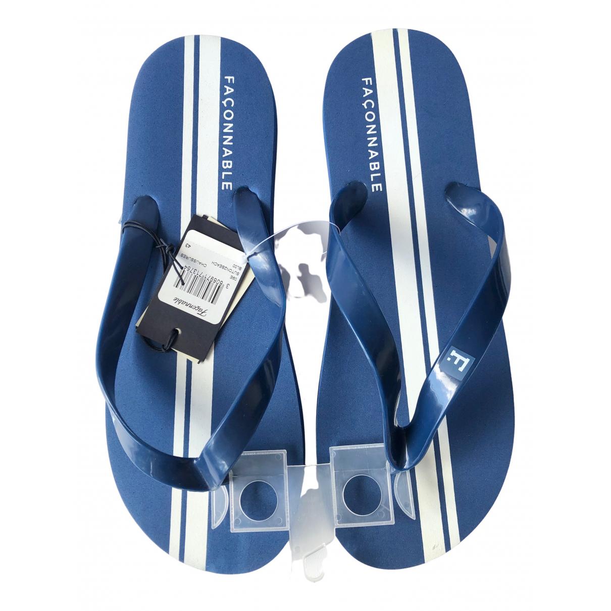 Faconnable \N Sandalen in  Blau Kautschuk