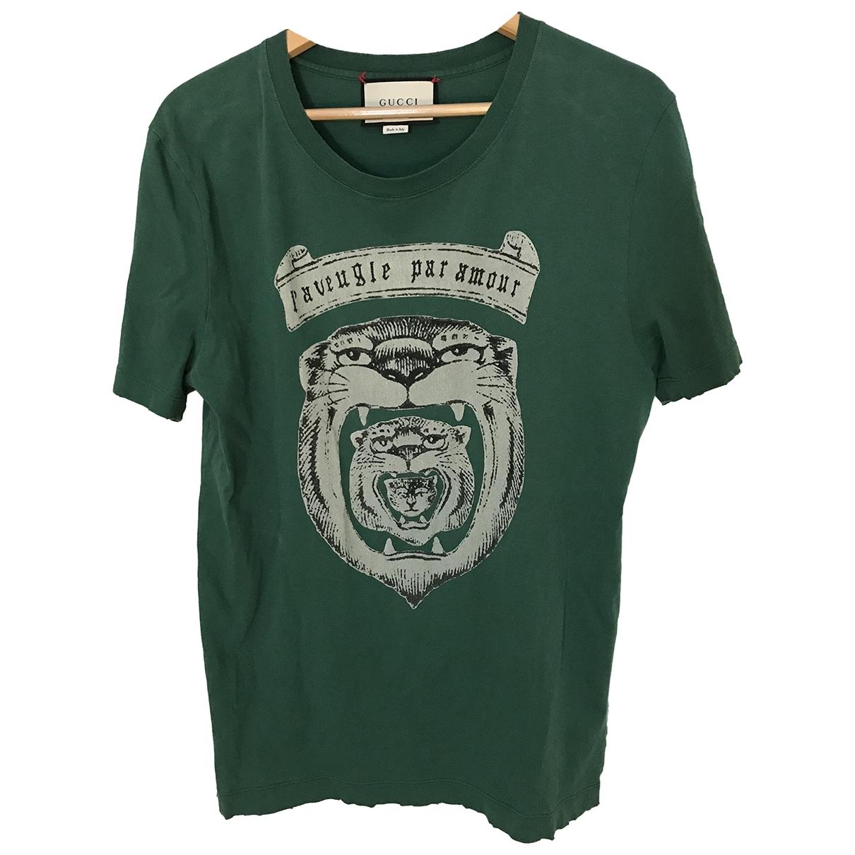 Gucci \N Green Cotton T-shirts for Men S International
