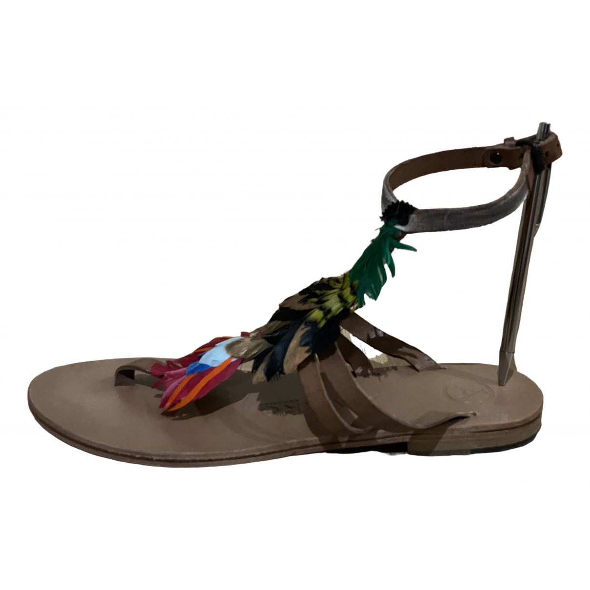 Alvaro Gonzalez \N Brown Leather Sandals for Women 39 EU
