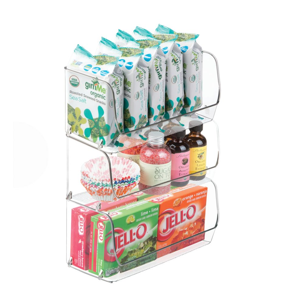 Small Plastic Kitchen Pantry / Food Storage Bin in green, 4
