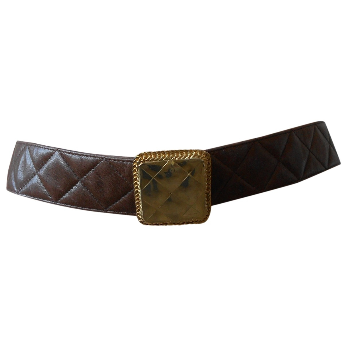 Chanel \N Brown Leather belt for Women 75 cm