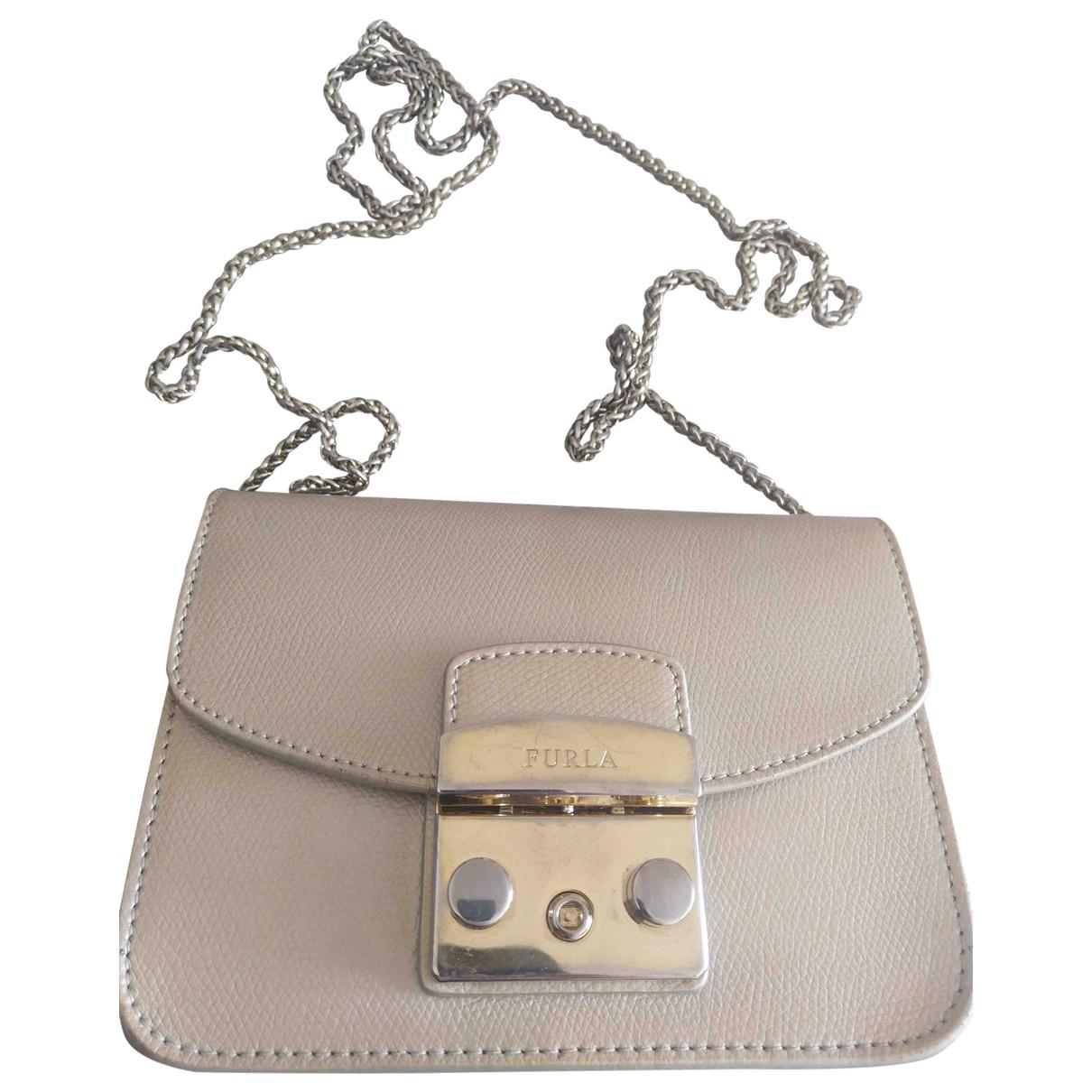 Furla Metropolis Metallic Leather handbag for Women \N