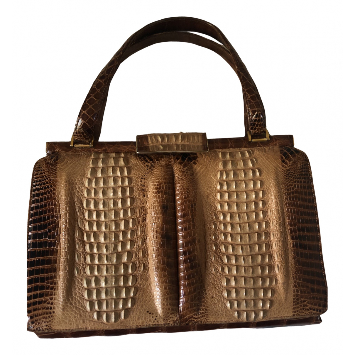 Non Signé / Unsigned \N Brown Crocodile handbag for Women \N